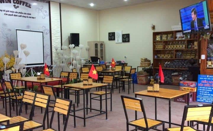 Thiết kế và thi công quán WIN COFFEE Chị Vân huyện Yên Thế Tỉnh Bắc Giang