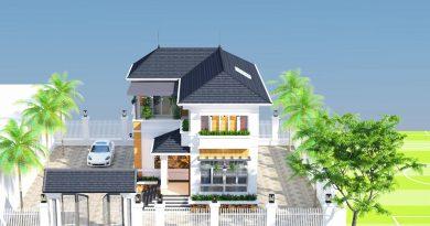 Biệt thự 2 tầng mái thái nhà Anh Tài Lục Nam Tỉnh Bắc Giang