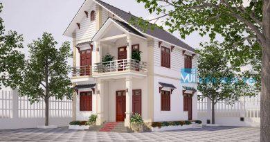 Nhà mái thái 2 tầng đẹp Cô Hà Nội Hoàng Yên Dũng tỉnh đẹp Bắc Giang