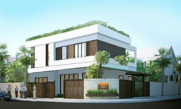 Thiết kế nhà phố 2 tầng 2 mặt tiền Anh Huấn Yên Thế