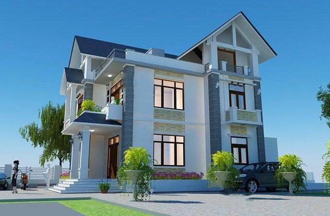 Thiết kế biệt thự 2 tầng đẹp Anh Hiển xã Song Khê Tp Bắc Giang