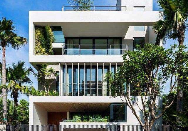 Thiết kế villa 4 tầng có hầm khu đô thị phía Nam