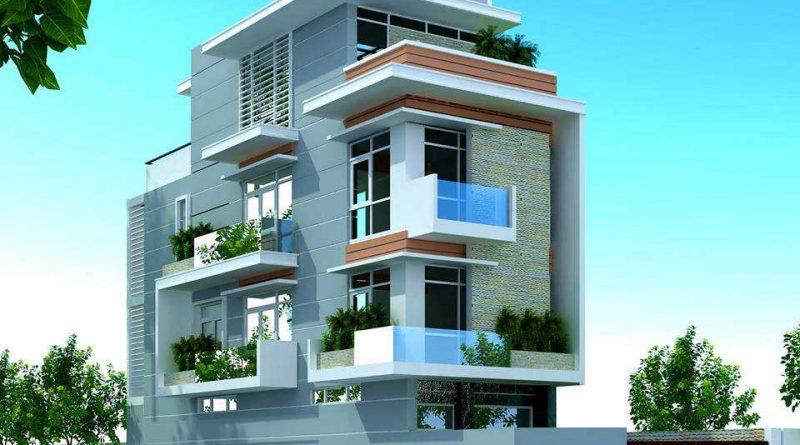 Nhà phố 2 mặt tiền 4 tầng Ông Tiến Xã Dĩnh Trì Tp Bắc Giang