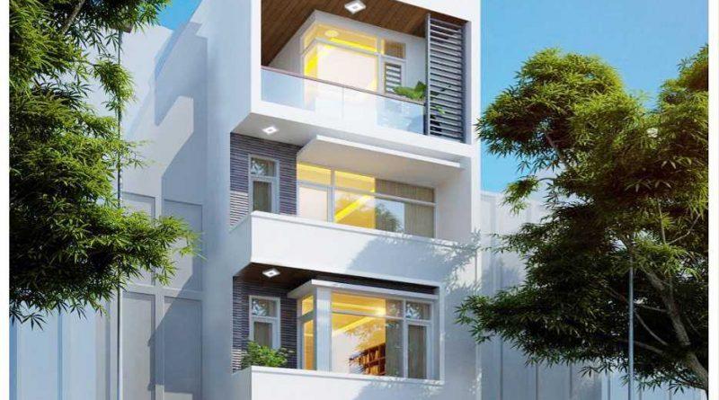 Thiết kế nhà phố 4 tầng Anh Cường ngõ 179 Lê Lợi Tp Bắc Giang