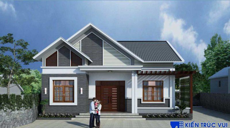 Nhà mái thái 1 tầng đẹp chú Độ Yên Dũng Bắc Giang