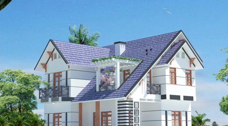 Biệt thự vườn mái thái 2 tầng Chị Nhi Hiệp Hòa Bắc Giang