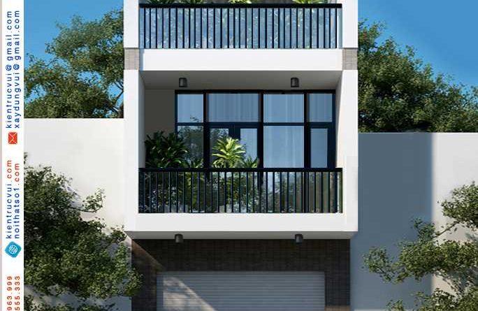 Thiết kế nhà phố 3 tầng hiện đại Chị Dung Dĩnh kế Tp Bắc Giang