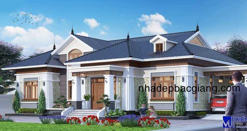 Thiết kế Biệt thự vườn mái thái Anh Hiếu Yên Thế Bắc Giang