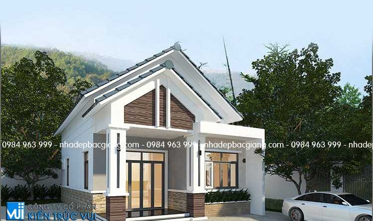 Thiết kế nhà cấp 4 mái thái siêu mini chú Năng huyện Yên Thế