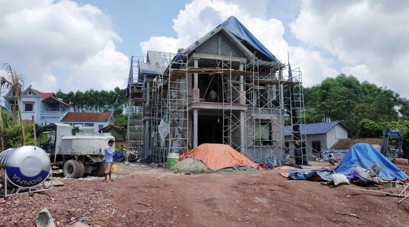 Khảo sát thiết kế sân vườn biệt thự Anh Thắng xã Xương Lâm huyện Lạng Giang tỉnh Bắc Giang