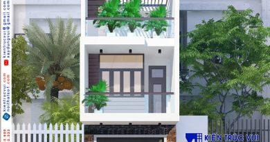 Nhà phố 3 tầng lệch hiện đại Anh Sơn KDC Cống Ngóc