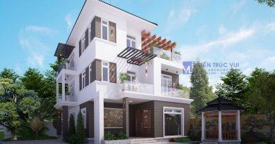 Biệt thự 3 tầng hiện đại Anh Hạnh huyện Lạng Giang