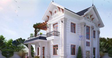Biệt thự tân cổ điển 2 mặt tiền Anh Sơn huyện Tân Yên