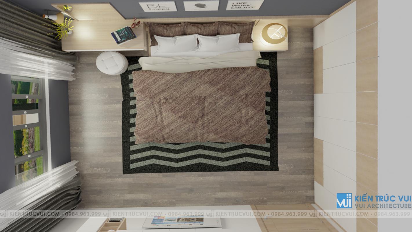 Phối cảnh nội thất phòng ngủ góc 3