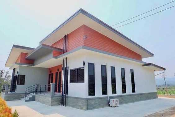Mẫu thiết kế nhà cấp 4 mái thái 1 tầng - mẫu 4