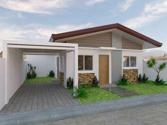 Mẫu thiết kế nhà cấp 4 mái thái 1 tầng - mẫu 8