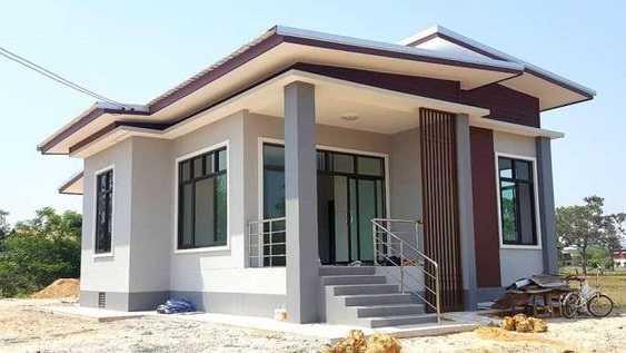 Mẫu thiết kế nhà cấp 4 mái thái 1 tầng - mẫu 11
