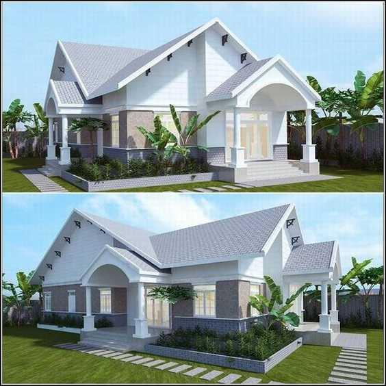 Mẫu thiết kế nhà cấp 4 mái thái 1 tầng - mẫu 31