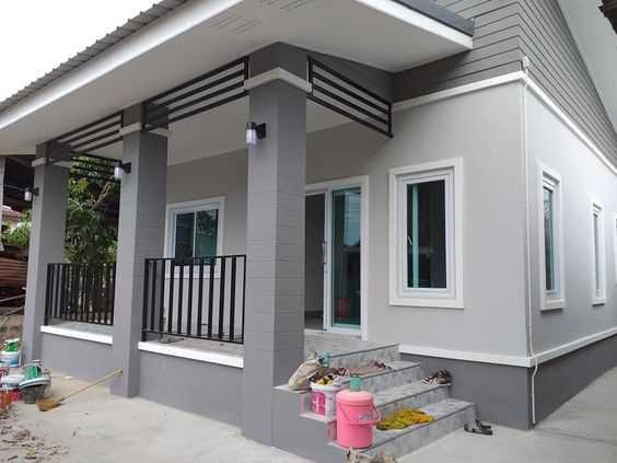 Mẫu thiết kế nhà cấp 4 mái thái 1 tầng - mẫu 35