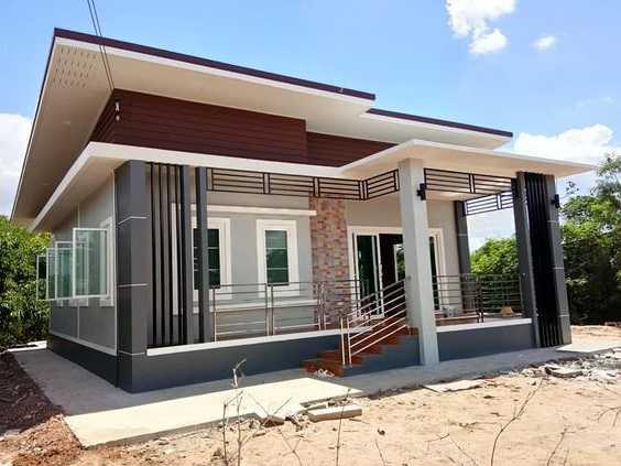 Mẫu thiết kế nhà cấp 4 mái thái 1 tầng - mẫu 37