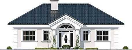 Mẫu thiết kế nhà cấp 4 mái thái 1 tầng - mẫu 44