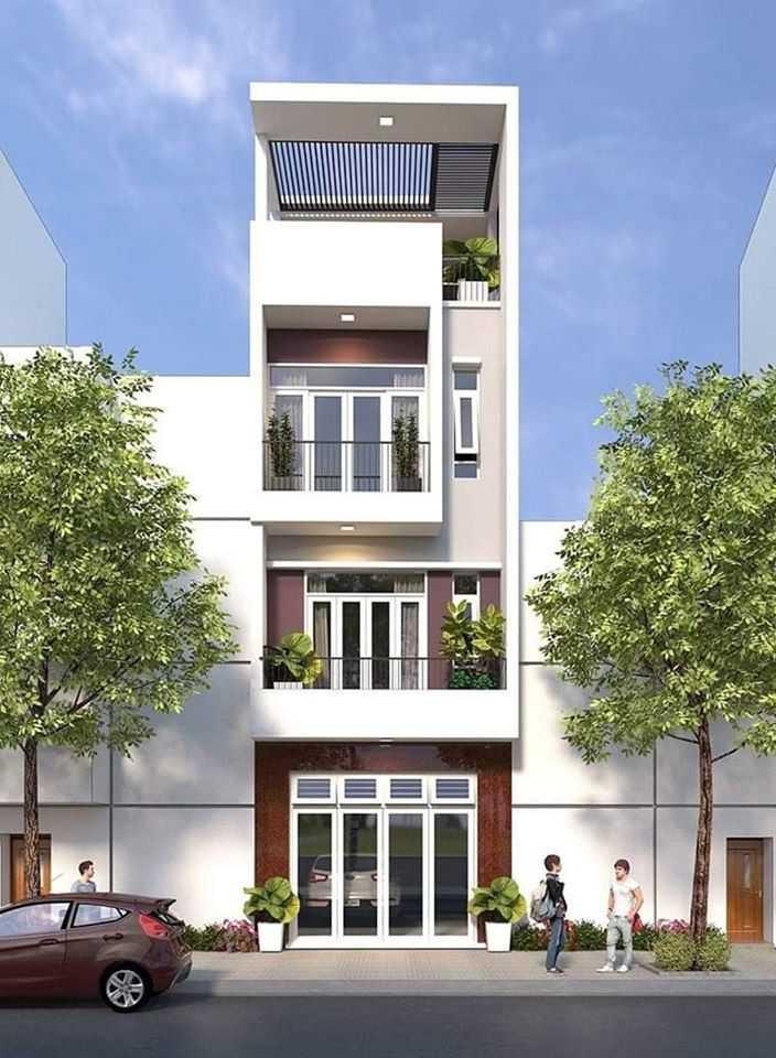 Mẫu nhà phố 4 tầng một mặt tiền hiện đại đẹp chất