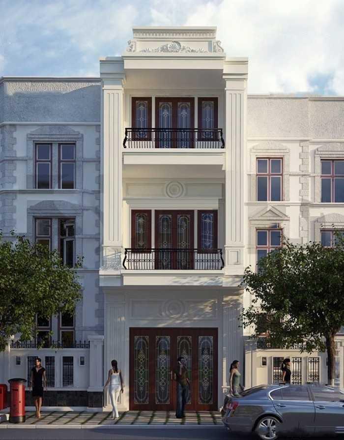 Mẫu nhà phố 3 tầng tân cổ đẹp