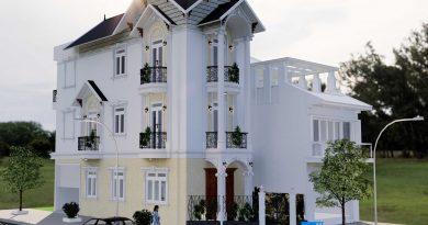 Thiết kế lô góc 3 tầng mái thái chị Nhất huyện Lục Nam