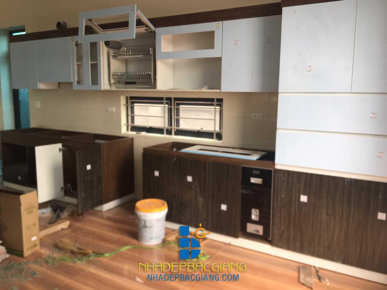 Thi công nội thất nhà Anh Trường KĐT Lạc Phú, TT. Nham Biền, huyện Yên Dũng, tỉnh Bắc Giang
