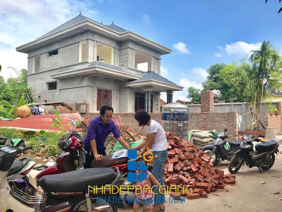 Nội thất biệt thự vườn Chị Thương Lạng Giang Bắc Giang