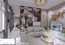 Thiết kế nội thất phòng khách phòng bếp Chị Nhất huyện Lục Nam