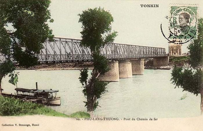 Một hình ảnh khác về cầu Phủ Lạng Thương, Bắc Giang thời thuộc địa.