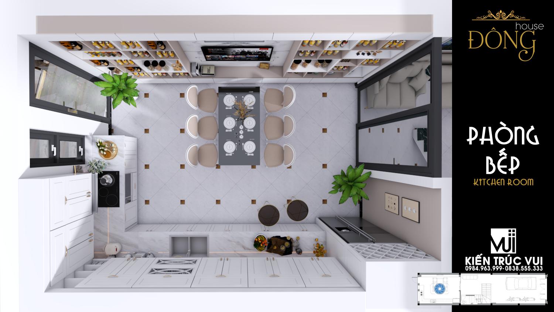 Nội thất phòng bếp tân cổ