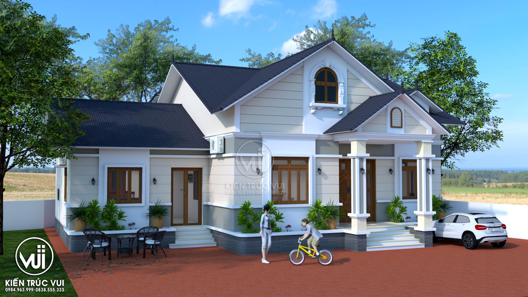 Nhà chính và khu công trình phụ mái thái