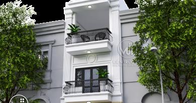 Nhà phố 3 tầng tân cổ điển Anh Tú Thị Trấn Nham Biền huyện Yên Dũng