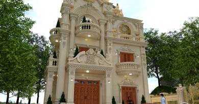 Biệt thự cổ điển 3 tầng Anh Thanh huyện Lạng Giang tỉnh Bắc Giang