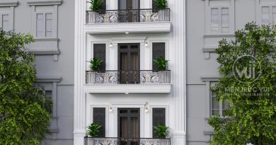 Nhà phố 5 tầng tân cổ điển Anh Tình đường Lê Hồng Phong 2 thành phố Bắc Giang
