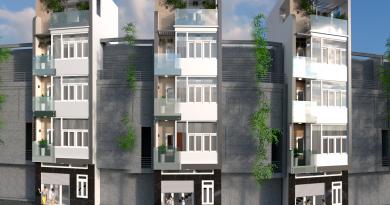 Nhà phố 5 tầng Anh Hoàng đường Lê Lợi thành phố Bắc Giang